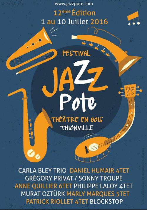 affiche du festival Jazzpote de 2016