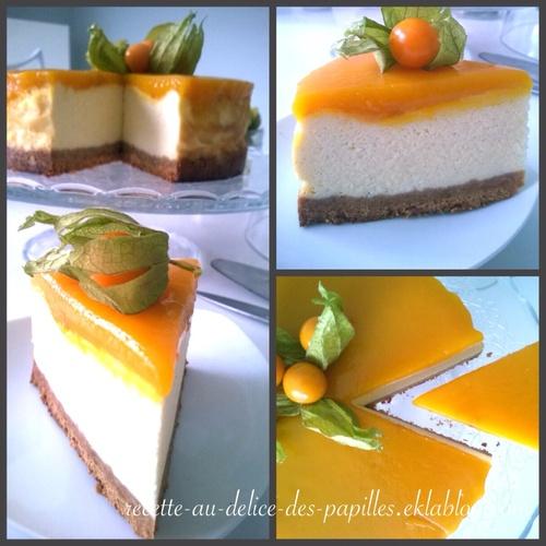 Recette Cheesecake  mangue vanille