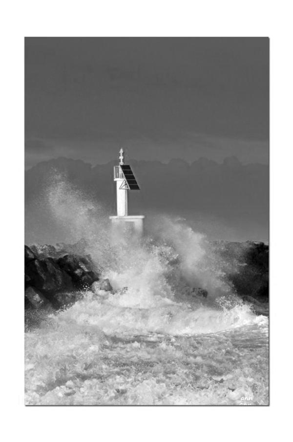 Un jour de tempête dans le Sud (Barcares -Pyrénnées-Orientales)