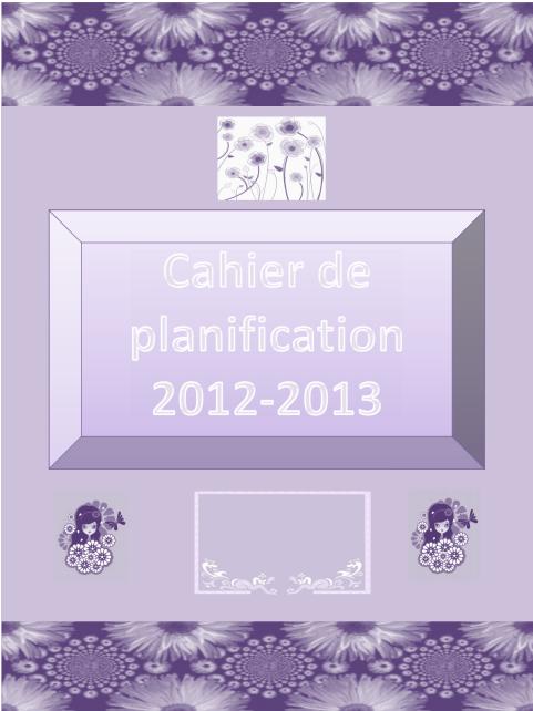 Le livret de planification 2012-2013