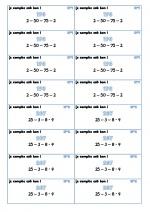 Mes ateliers de calculs