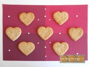 Cœurs sablés aux crêpes dentelles