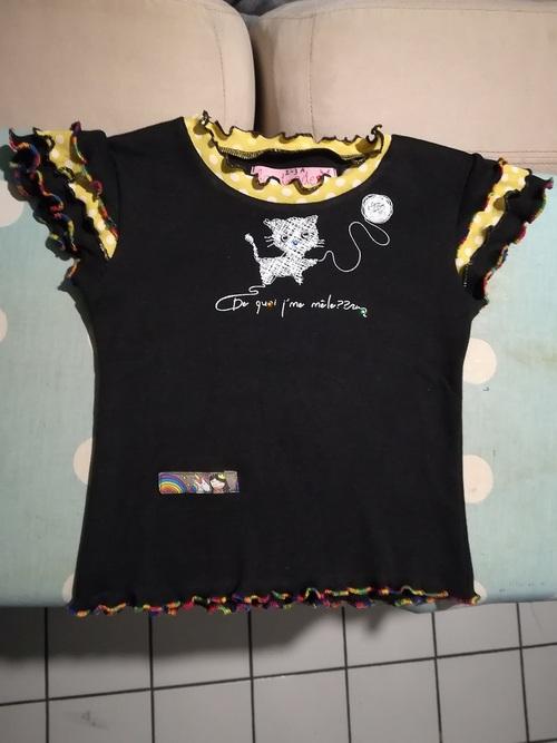 Défi recyclage : un tee shirt pour l'anniversaire de ma nièce