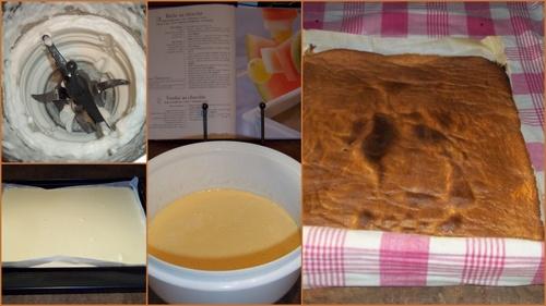 buche  kirchée au chocolat et amarena- Thermomix