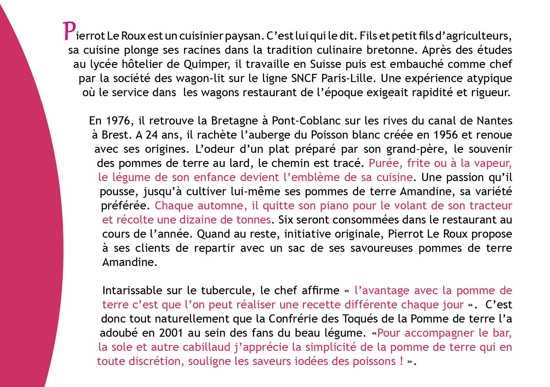 Portrait de Toqué : Pierrot LE ROUX