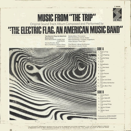 "The Electric Flag : Album "" The Trip Original Motion Picture Soundtrack "" Sidewalk Records ST-5908 [ US ]"