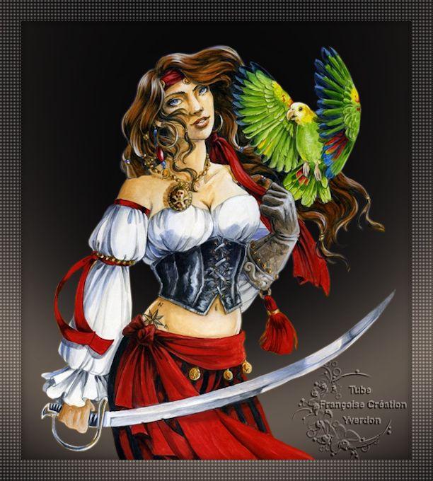 Tubes Femmes Pirates (01 à 10)