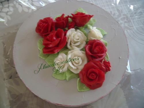Bouquet de roses en PAM
