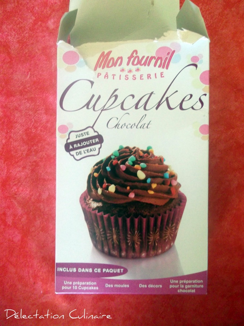 Cupcakes chocolat de Mon Fournil