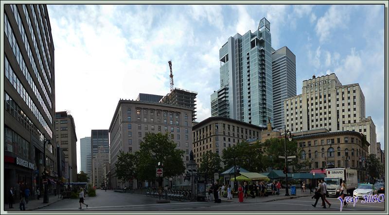 Belles architectures de verre et d'acier - Montréal - Québec - Canada