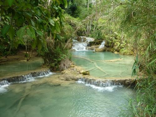 Escapade aux chutes d'eau de Kuang Xi