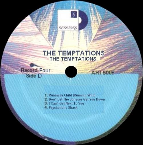 "The Temptations : Album "" The Temptations "" Motown Sessions Records ARI 5009 [ US ]"