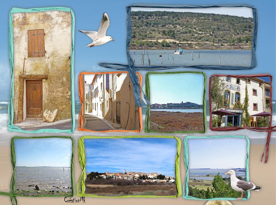 Carte postale de Bages et ses étangs (Aude)
