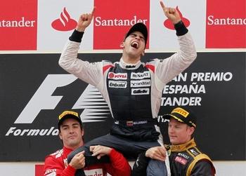 Maldonado podium GP'Espagne