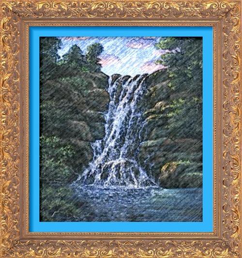 Dessin et peinture - vidéo 2475 : Comment peindre la cascade ? - peinture acrylique ou à l'huile.