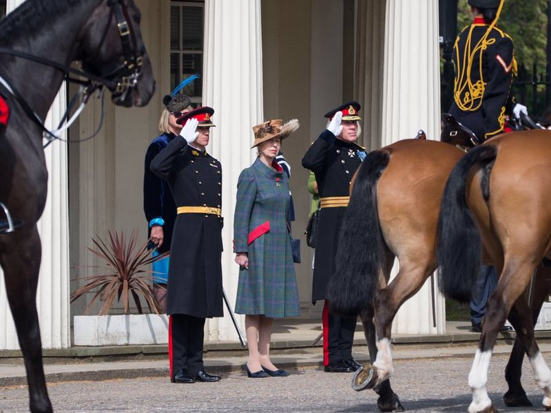 The King's Troop Royal Horse Artillery staged a 41 Gun Royal Salute