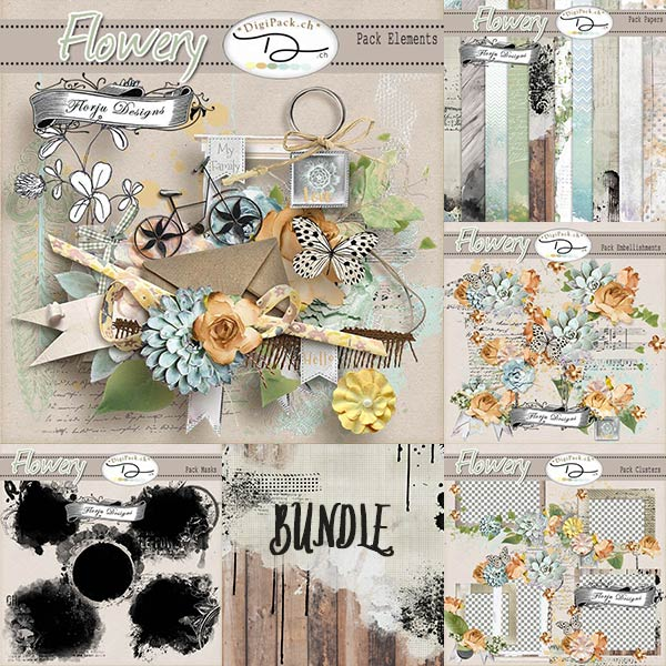 Flowery { Bundle PU } by Florju Designs