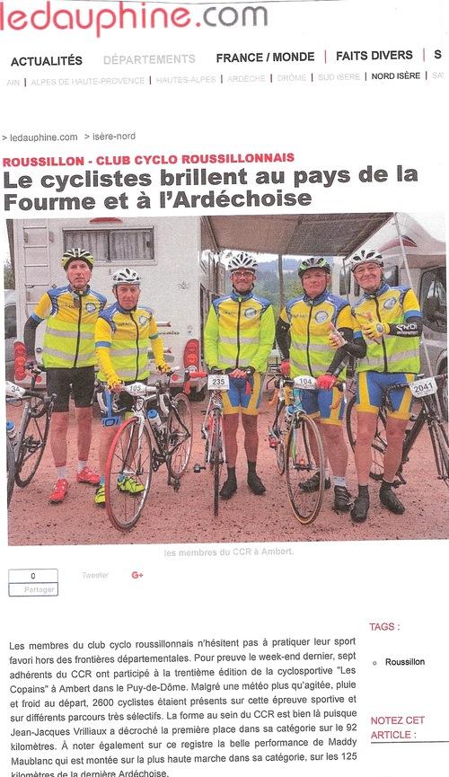 Article dans le Dauphiné juillet 2017
