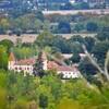 AUVILLAR (10/16) vue du Cap de pech sur le château d'Espalais