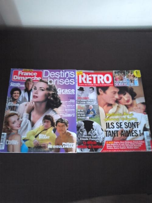 France Dimanche destin brisée vol.2 et Rétro numéro 5 avec Claude François