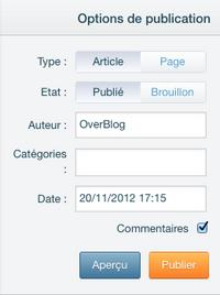 État : Brouillon à publier