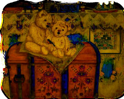 tube teddy bear