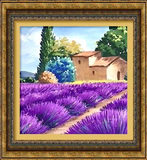 Dessin et peinture - vidéo 2539 : Comment peindre, au coeur de l'été,  des lavandes dans un paysage provençal ? - huile ou acrylique.