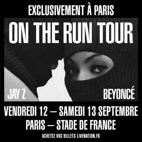 On The Run Tour Le 12 et 13 Septembre 2014 au Stade De France !