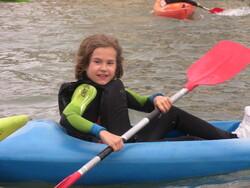 Première séance de kayak ventée!