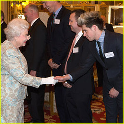 Niall & queen Eliabeth II