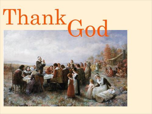 CM1/3 - Thanksgiving: HISTORY