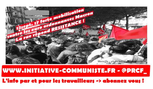 #grève12septembre : Forte mobilisation dans les grèves et manifs contre les #ordonnances #loitravail #direct (IC.fr-12/09/2017)