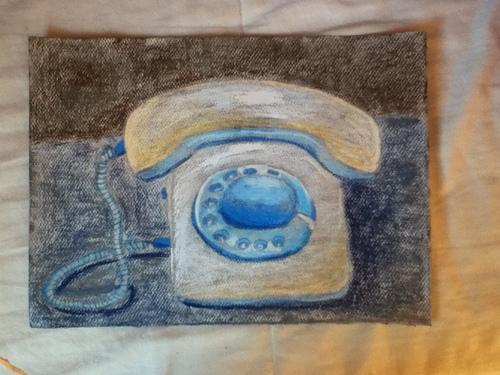 téléphone retro pastels grasses