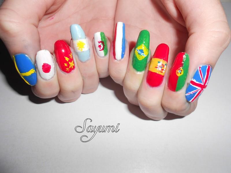Nail Art Worldwide Flags