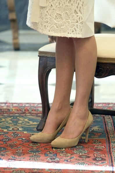 Détails de la robe de Charlène