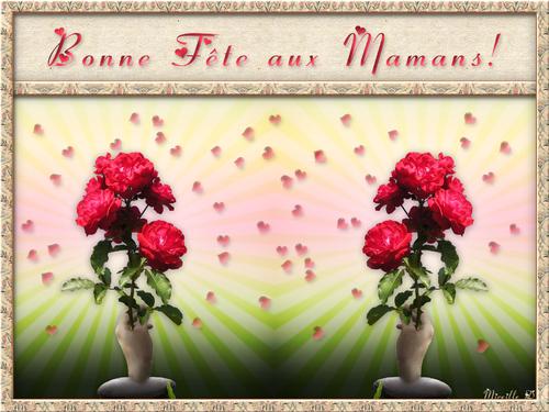 Carte Musicale de Bonne Fête aux Mamans