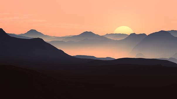 Soir, Sun, Sunset, Rétro Éclairage
