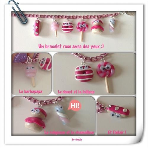 Création 2014-3: le petit bracelet rose