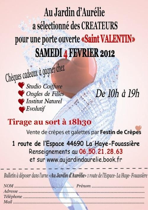 """VENTE EXPO SAMEDI 4 FEVRIER 2012 """"St Valentin"""""""