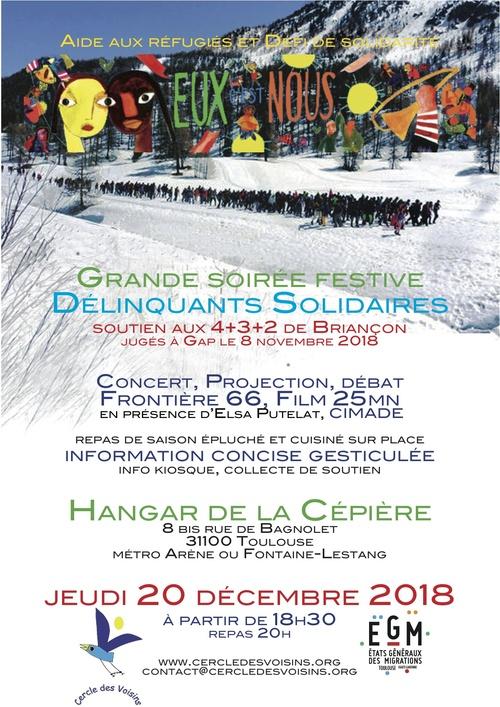 20 décembre : soirée de soutien