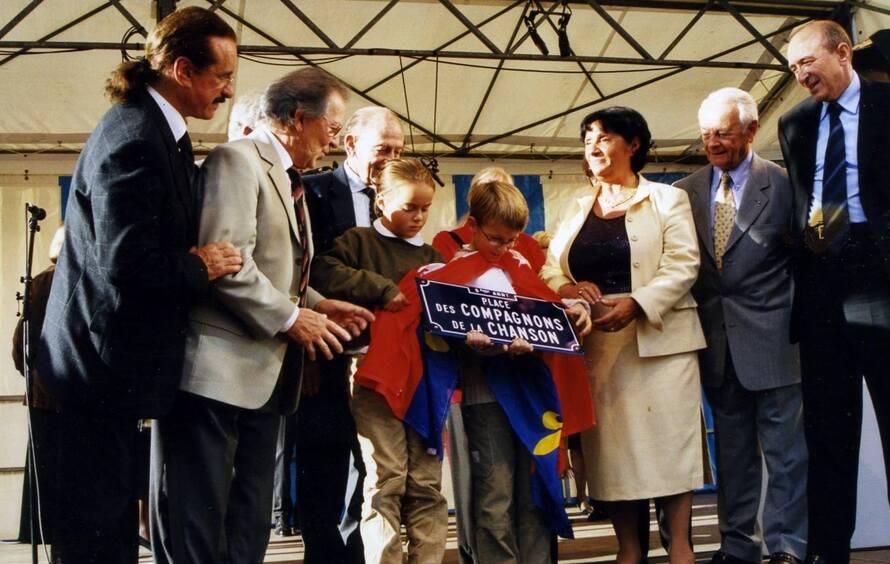 octobre 2002... L'inauguration de la place des Compagnons à Lyon