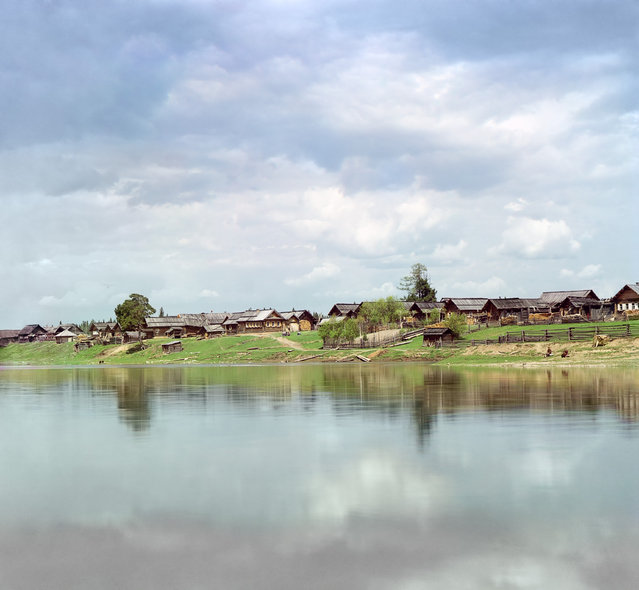 Photos by Sergey Prokudin-Gorsky. Village of Rodina (Chusovaia River). Russia, Perm Province, Kungur uyezd (district), Rodina (uninhabited), 1912