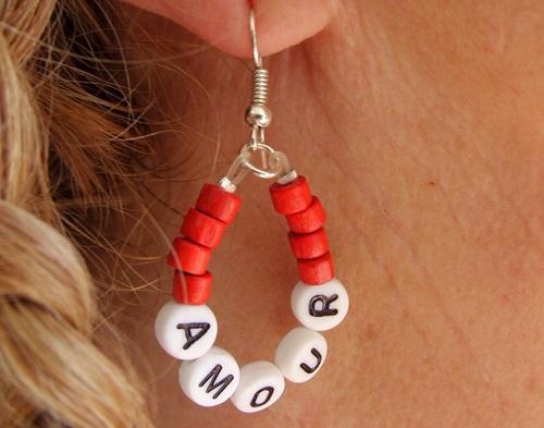 """Boucles d'oreilles """"Amour"""""""