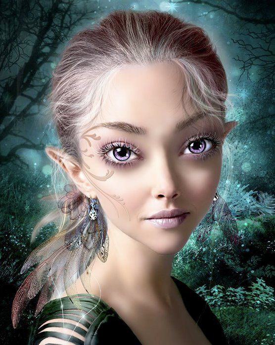 Lovely Violet Eyed Fairy: