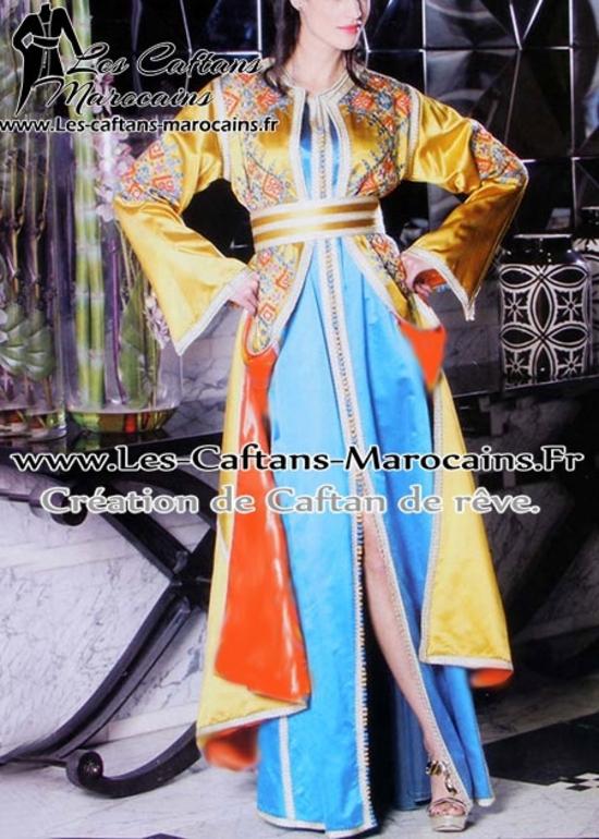 Takchita-marocaine de haute couture-broderies-couleurs-2015-TAK-S945