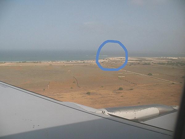 vue d'avion sur boa vista