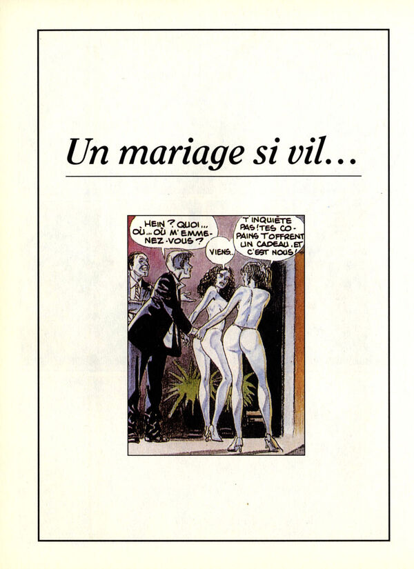 Un mariage si vil