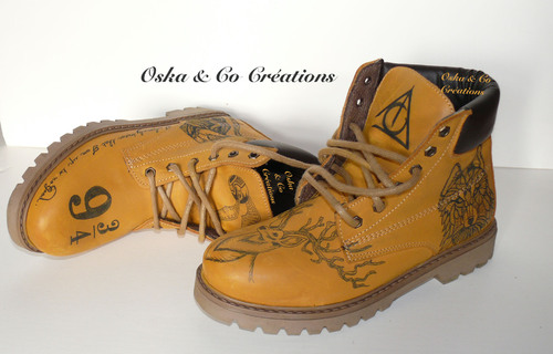 Chaussures relookées inspiration Harry Potter