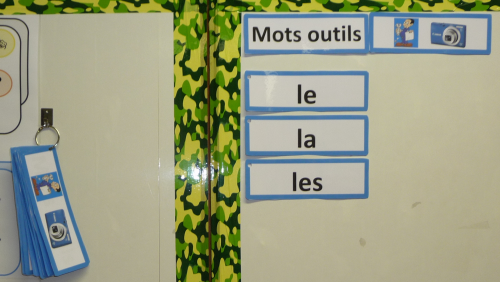 Mots outils Cp, affichage