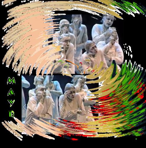 Biennale, danse contemporaine, Mons, novembre, 2015, MAY B, compagnie, chregaph, Maguy Marin, chant doudou, gilles, Binche, théâtre du manège, maubeuge
